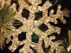 Sparkly snowflake, different lighting
