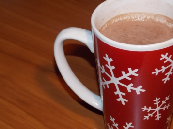 I feel wintery...Hot chocolate in a snowflake mug. Perfect!
